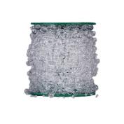 Syndecho 60m Crystal Bead Roll Garland, Wedding Craft DIY Decor Accessory Pearls for Centrepiece Table Decoration