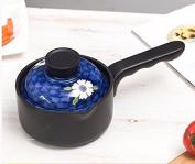 SDS-COM Hand-Painted Ceramic Small Milk Pot Non-Stick Pot Small Casserole Pot Home Mini Bubble Pot