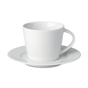 Cappuccino cup and saucer - white
