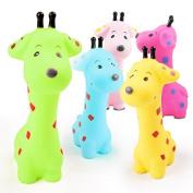 DROVE 2pcs Cartoon Giraffe Shaped Bathtub Bath Toys for Baby Kids