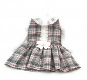 Baby Girl Cute Tartan Dress with Satin Pink Bow