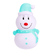 Gaddrt 12cm Christmas Snowman Jumbo Soft Squishy Cream Scented Toy Slow Rising Kawaii Simulation Cute Kid Toy Charm Gift