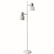MMM Northern Europe Modern Simple Creative Double Head Floor Lamp Living Room Study Vertical Light