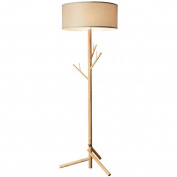 MMM Nordic Solid Wood Floor Lamp Living Room Hangers Floor Vertical Light Bedroom Study Lamps