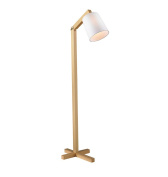 Adjustable Solid wood floor lamp, Modern Chinese Nordic Simple living room bedroom study coffee table read E27 * 1 220V High 130cm Foot switch Elegant