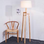 MMM Floor Lamp Living Room Bedroom Simple Modern Nordic Solid Wood Creative Landing Light
