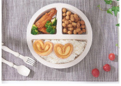 HJMTRY Children 's Plate Wheat Straw Grading Thick Children' s Tableware Household Disc Three Grid Sub - Dishes Sub - Plate