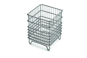 Weis Cutlery Basket, Stainless-Steel, Silver, 12 x 12 x 15 cm