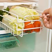 Fittoway Kitchen Refrigerator Freezer Under Shelf Space Saver Baskets Fridge Sliding Shelf Scalable Storage Rack Organiser