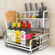 SHELVES Stainless Steel Kitchen Shelves, 2-layer Dressing Bottle Rack Storage Rack