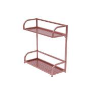 SHELVES Rose Gold Stainless Steel 2-story Bathroom Kitchenware Racks, Wall Racks