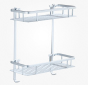 stable Shelf, bathroom Shelf WC Sucker Storage rack Suction wall bathroom Bathroom Right angle Wall hanging No need to punch Simple and elegant