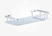 stable Space aluminium kitchen bathroom bathroom Shelf Wall hanging storage rack Single layer Do not nail Do not need to punch Simple and elegant