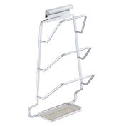 stable Shelf, Space aluminium Take water Pot cover Creative Multiple layers Multifunction Pylon kitchen Shelf Wall mount hook up Simple and elegant