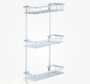 stable shelf,bathroom WC Suction wall Shelf bathroom Toilets Sucker Basin Right angle frame 3 layers No punching Simple and elegant