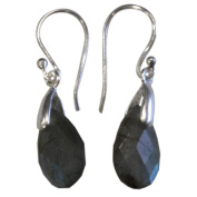 facettee – Labradorite Drop Earrings Silver