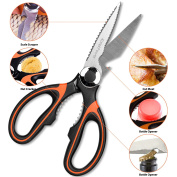 Kitchen Scissors,EatekPower Heavy Duty Kitchen shears Multi-Purpose Utility Scissor Shear High Carbon Stainless Steel with Sharp Blade for Poultry, Fish, Meat, Vegetables, Herbs, Nut,Wine Bottle Cap