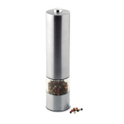 Stainless steel electric pepper (or salt) mill - matt silver