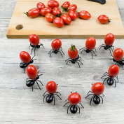 HKFV Halloween Amazing Superb Cute Ant Fruit Fork Tableware Use Snack Cake Dessert Forks For Party