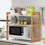 Anna Kitchen Shelves 3 layer floor kitchen shelving storage shelf microwave oven shelf spice rack household dish rack