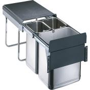 Wesco Öko-Sammler 785404 Pedal Bin Stainless Steel, Silver, 35 x 40 x 50 cm
