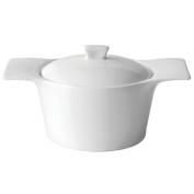 Utopia Anton Black Individual Casserole Dish 360ml / 35cl   Fine China Casserole Dish, White Casserole Dish, Mini Casserole Dish