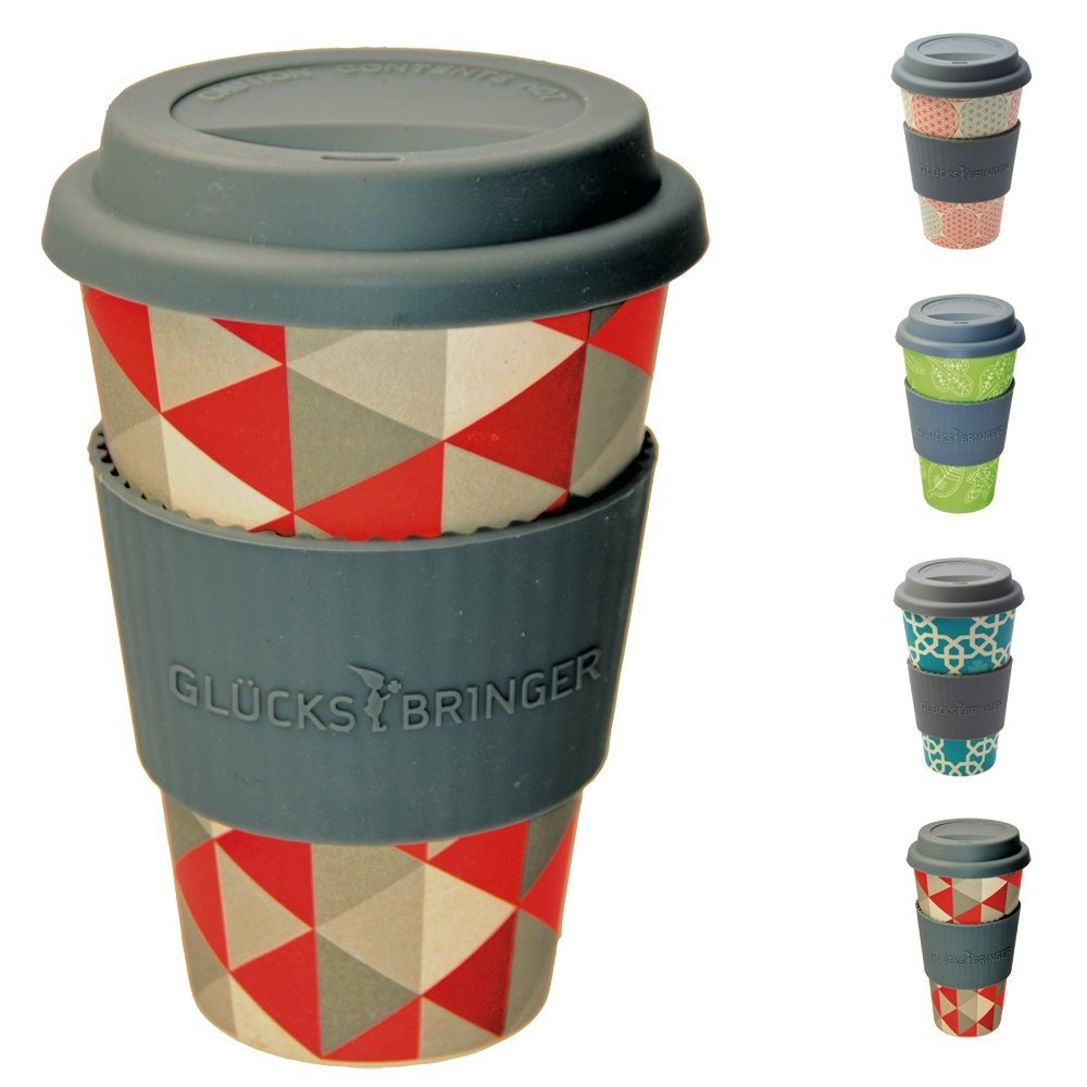 CupMugTravel Cup Takeaway ReusableEco Silicone LidMade Friendly Coffee Ebos Fibre With Bamboo Organic Natural MSVpUzq