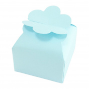 Cloud Top Pearlised Favour Boxes! High Quality Wedding Sweet Flower [Baby Blue, Single Box]