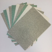 Christmas Glitter Card Pack from Pocketfold Invites LTD X 10