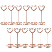 OUNONA Table Number Holders Wedding Party Name Card Holders Memo Note Photo Clip 12pcs