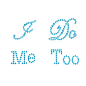"""Syndecho """"I Do"""" """"Me Too"""" Crystal Rhinestone Wedding Shoes Stickers Shoes Applique Decals"""