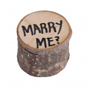 Wooden Ring Box Wedding Ring Storage Box Wood Anniversary Ring Box Valentines Engagement Wooden Ring Case