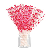100 pcs Red Stems Pearl roses Beads Spray Wedding Bouquet Bride Cake Flower Bouquet Wedding Home Table Decor