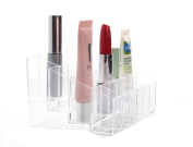 Kanggest Clear Acrylic 24 Grids Lipstick Holder Display Stand Rack Cosmetic Make Up Clear Organiser Beauty Brush Storage Container