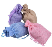 40Pcs Burlap Bags with Drawstring, DIKETE® Jute Hessian Gift packing Storage Sacks Bag Pouch for Wedding Party Christmas DIY Craft, 14cm x 10cm