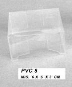 set 50 pcs, small box pvc sugared almonds bags, CM 6X6X3.