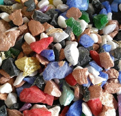 500g Mixed Colours of Luxury Sparkling Quartz Chippings 9-13m.