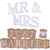 'Mr & Mrs Wedding with Banner' Just Married 'Decorative Letter Garland Decorations