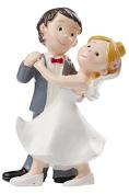Wedding Couple Dancing Wedding Decoration Bride and Groom Figurine 8 cm