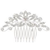Cdet 1X Hair Comb Women Cute Leaf Diamond Hair Pin Party Wedding Bridal Headdress Hair Accessories Silver