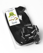 CONF. 50 Bows Rapid Ribbons – Black – 31 mm – Graduation Ceremonies Decorations