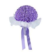 bismarckbeer Bouquet Ribbon Rhinestone Artificial Flower Foam Roses Wedding Bridal Bouquet
