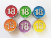 takestop® Set of 12 Party Favours Wedding Favours Circles Stopper Paint 18 Years Ceramic Magnet Magnet Birthday – Random