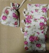 10 Sachets of Linen Floral 10 x 13 cms