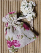 10 Sachet Linen Floral 8 x 10 cms.