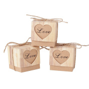 100 pcs Wedding Favour Candy Boxes Heart Party Birthday Baby Shower Decoration