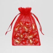 50 Red Organza bags small 7 x 9 cm