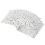 Hrph 10 Pcs/ Pack Romantic Wedding Party Invitation Card Delicate Hollowed Heart Pattern Decoration Supplies
