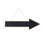 mopec Slate Hanging Arrow Shaped, Wood, black, 3 X 60 X 20 cm
