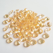 AiFanS 1000Pcs Gold 10mm Acrylic Diamond Gems For Table Scatter Table Confetti (Clear)